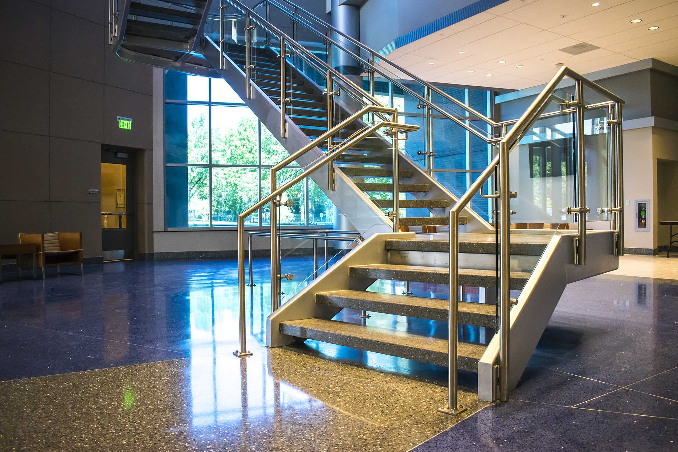 High Point Architectural Metal Fabricators Guardrail Handrail Glass Railing Systems Wire Net Wire Mesh